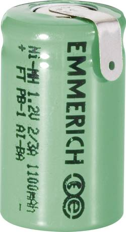 Accu NiMH Emmerich 2/3 A 1 100 mAh FT-1Z