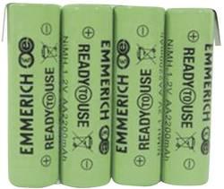 Pack d'accus 4x LR6 (AA) NiMH Emmerich 255069 4.8 V 2200 mAh