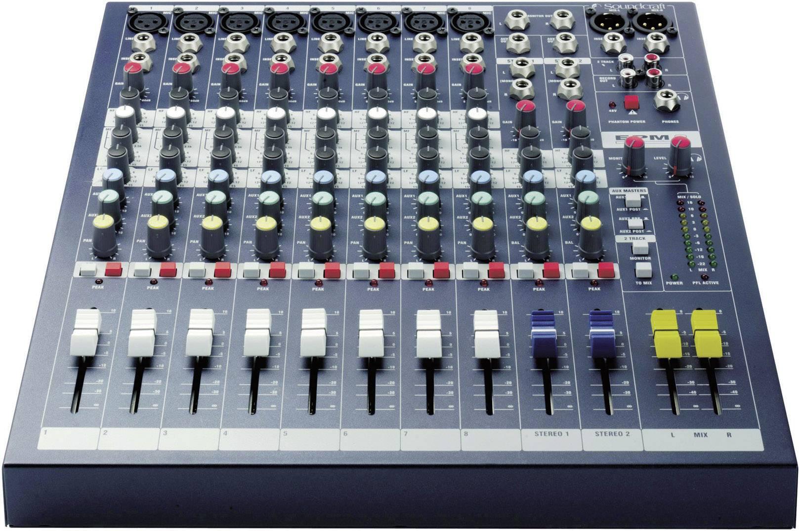 Table de mixage soundcraft epm 8 - Table de mixage en ligne gratuit ...