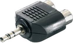 Adaptateur Y SpeaKa Professional SP-1300388 [1x Jack mâle 3.5 mm - 2x Cinch / RCA femelle] 0 m noir