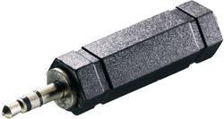 Adaptateur SpeaKa Professional SP-1300408 [1x Jack mâle 3.5 mm - 1x Jack femelle 6.35 mm] 0 m noir