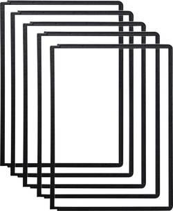 Plaque-pochettes Durable 5606/5606-01 pour DIN A4 noir, lot de 5