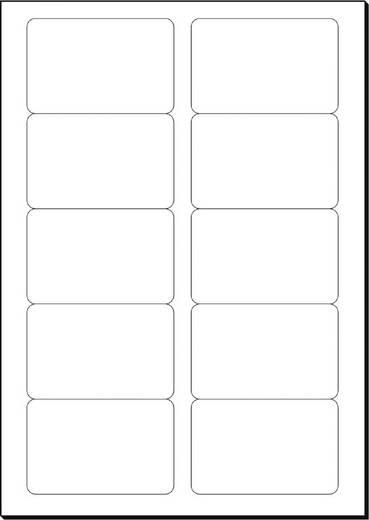 Cartes De Visite Imprimables Bords Lisses Sigel LP798 85 X 55 Mm Blanc Profond 100