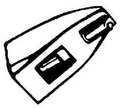 Aiguille de bras de lecture DN 165/166 Nadel 5/10 DN 165/166 pointe 5/10
