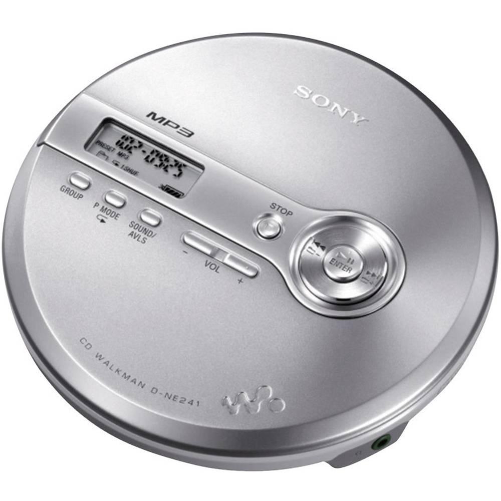 sony d ne241s lecteur de cd portable argent cd cd r cd. Black Bedroom Furniture Sets. Home Design Ideas