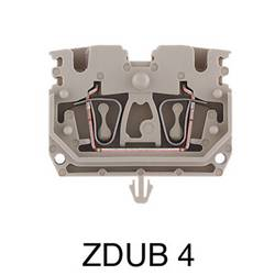 Bloc de jonction de passage Weidmüller ZDUB 2.5-2/4AN/RC 1712970000 100 pc(s)