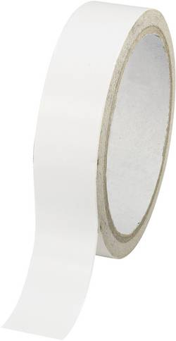 Ruban adhésif double-face TOOLCRAFT DSTW-24 1564027 blanc (L x l) 30 m x 24 mm acrylique 1 rouleau(x)