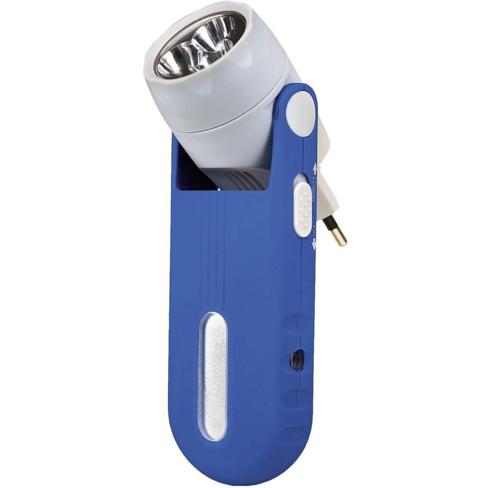 Lampe De Poche Ampercell Rechargeable Secteur Bleu Gris Led 3 En 1