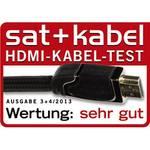Câble High Speed HDMI - connecteur mâle, ferrite, métal, Ethernet 3 m
