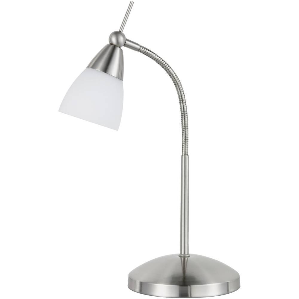 Lampe de chevet Paul Neuhaus Pino 28 W acier   Conrad.fr