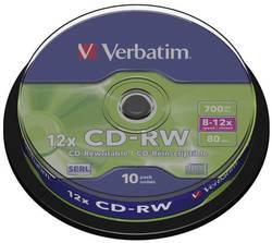 CD-RW 700 Mo Verbatim 43480 10 pc(s) tour réinscriptible