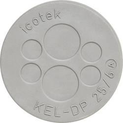 Plaque de traversée de câble Icotek KEL-DP 25/4 43533 Ø de passage max. 8 mm Elastomère gris 1 pc(s)