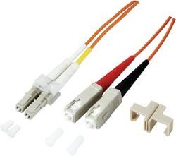 Câble de raccordement fibre optique EFB Elektronik O0314.10 [1x LC mâle - 1x SC mâle] 50/125µ Multimode OM3 10 m