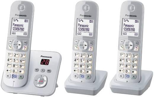 t l phone sans fil panasonic kx tg6823 trio argent gris. Black Bedroom Furniture Sets. Home Design Ideas
