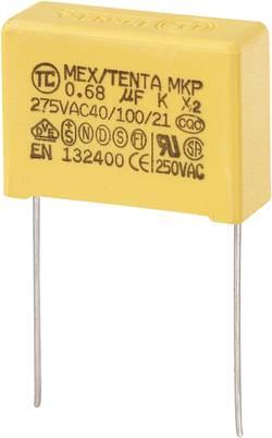Condensateur anti-parasite MKP-X2 0.68 µF 275 V/AC TRU COMPONENTS 450264 10 % Pas: 22.5 mm (L x l x h) 26.5 x 10 x 19 m