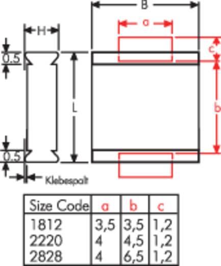 Condensateur polyester 1812 Wima WIMA SMD 1812 0,22UF 10% 63V 0.22 µF 63 V 20 % (L x l x h) 4.8 x 3.3 x 2 mm 1 pc(s)
