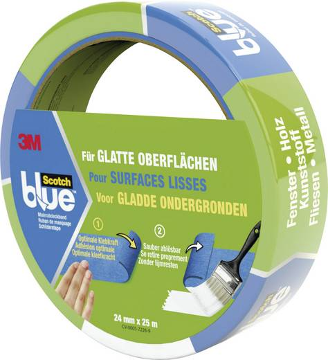 Ruban de masquage ScotchBlue™ 3M 7000049414 bleu (L x l) 25 m x 36 mm 1 rouleau(x)