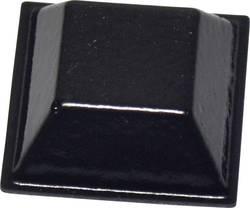 Pied d'appareil TOOLCRAFT PD2205SW autocollant, carré noir (L x l x h) 20.6 x 20.6 x 7.6 mm 1 pc(s)