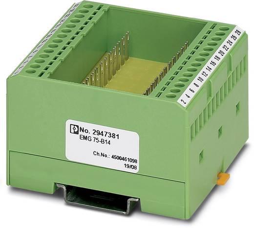 Boîtier pour rail Phoenix Contact EMG 75-B14 2947381 plastique 2 pc(s)