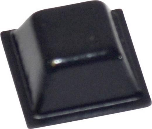 Pied d'appareil TOOLCRAFT PD2126SW autocollant, carré noir (L x l x h) 12.7 x 12.7 x 5.8 mm 1 pc(s)