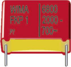 Condensateur polypropylène FKP 1000 pF 630 V/DC Wima FKP1J011004B00KB00 10 % Pas: 15 mm (L x l x h) 18 x 5 x 11 mm 1150