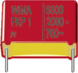 Condensateur polypropylène FKP sortie radiale 2200 pF 250 V/DC 20 % Wima FKP3F012202C00MC00 (L x l x h) 10 x 4 x 9 mm 7