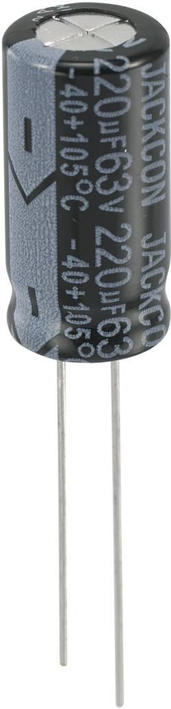 Condensateur électrolytique sortie radiale 220 µF 63 V 458394 (Ø x h) 10 mm x 20 mm 20 % Pas: 5 mm 1 pc(s)