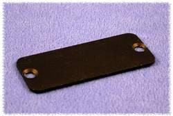 Plaque arrière Hammond Electronics 1455LALBK-10 aluminium noir (L x l x h) 1.5 x 103 x 30.5 mm