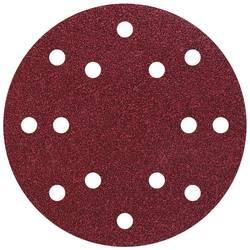 Feuille abrasive pour ponceuse excentrique avec bande auto-agrippante, perforé Wolfcraft 1841000 Grain 60 (Ø) 150 mm 5