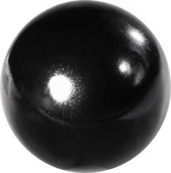 Boutons boule M6 TOOLCRAFT 319 (Ø) 25 mm Plastique noir; Douille filetée : laiton 25 mm