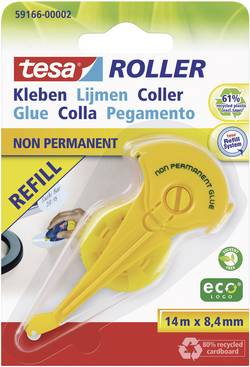 Cartouche de colle de rechange ecoLogo® tesa 59166-02-05 (L x l) 14 m x 8.4 mm 1 rouleau(x)