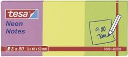 tesa Note adhésive 56001-00-00 40 mm x 50 mm rose, jaune, vert 240 feuille