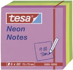 tesa note adhésive 56004-00-00 75 mm x 75 mm rose, jaune, vert 480 feuille