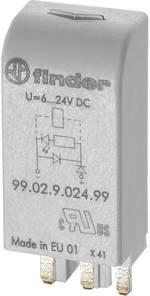 Module enfichable avec LED, avec varistance Finder 99.02.0.230.98 Couleur d'éclairage: vert Adapté pour série: Finder sé