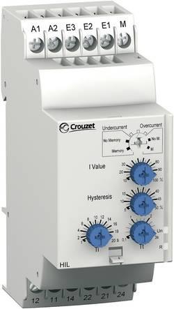Relais de contrôle courant 24 - 240 V AC/DC 2 inverseurs gamme de mesure 2 - 500 mA Crouzet 84871120 HIL