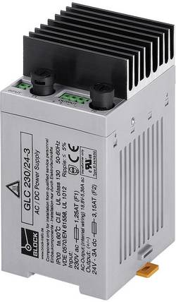 Alimentation encastrable CA/CC Block GLC 400/24-1 24 V/DC 1 A 24 W