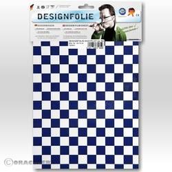 Feuille de conception Oracover Easyplot Fun 4 95-010-052-B (L x l) 300 mm x 208 cm blanc-bleu foncé