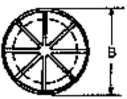 Passe-fils PB Fastener AF1093 Ø de passage max. 20.6 mm Polyamide noir 1 pc(s)