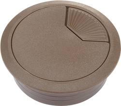 Passe-fils Conrad Components WP80BN 452689 pour plan de travail ABS marron 1 pc(s)