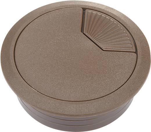 Passe-fils Conrad Components WP50BN 452636 pour plan de travail ABS marron 1 pc(s)