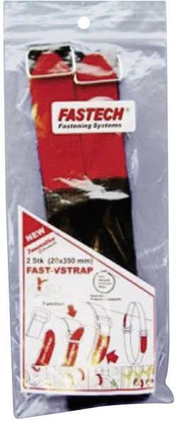 Bande auto-agrippante Fastech 687-330M-Bag avec boucle partie velours et partie crochets (L x l) 350 mm x 20 mm noir, ro