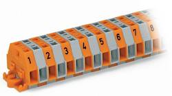 Barrettes à bornes WAGO 260-410 6 mm ressort de traction Affectation des prises: L gris 25 pc(s)
