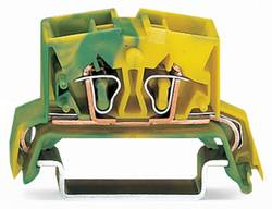 Borne pour conducteur de protection WAGO 264-737/999-950 10 mm ressort de traction Affectation des prises: terre vert-ja