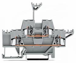 Bloc de jonction traversant à 2 étages WAGO 280-513 5 mm ressort de traction Affectation des prises: L gris 50 pc(s)