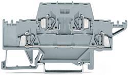 Bloc de jonction traversant à 2 étages WAGO 280-528 5 mm ressort de traction Affectation des prises: L gris 50 pc(s)