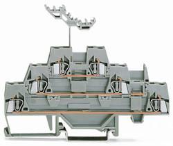Bloc de jonction traversant à 3 étages WAGO 280-549 5 mm ressort de traction Affectation des prises: L gris 40 pc(s)