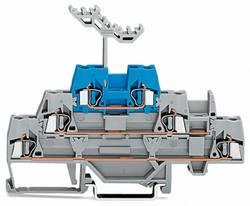 Bloc de jonction traversant à 3 étages WAGO 280-552 5 mm ressort de traction gris, bleu 40 pc(s)