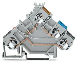 Borne pour capteur WAGO 280-560/281-434 5 mm ressort de traction Affectation des prises: L gris 50 pc(s)
