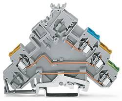 Borne pour actionneurs WAGO 280-572/281-411 5 mm ressort de traction Affectation des prises: L gris 50 pc(s)