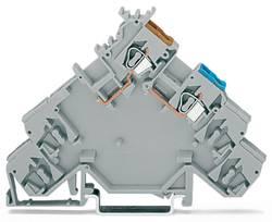 Borne pour capteur WAGO 280-584 5 mm ressort de traction Affectation des prises: L gris 10 pc(s)